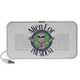 Alien For President Travel Speaker