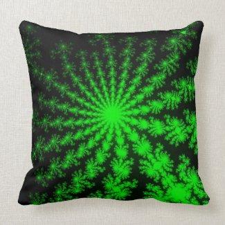 Alien Fractal Burst Pillow