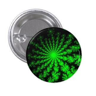 Alien Fractal Burst Small Round Button