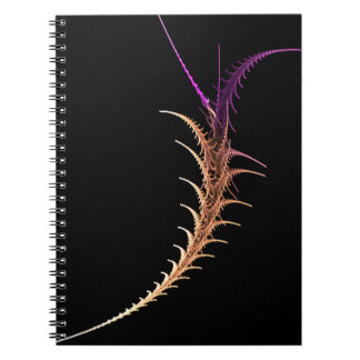 Alien Fractal Spiral Notebook
