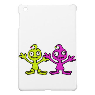 ALIEN FRIENDS HOLDING HANDS, HAPPY ALIEN KIDS COVER FOR THE iPad MINI