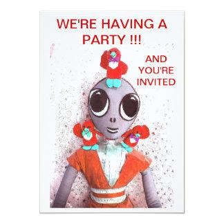 Alien & Friends Party Invitation