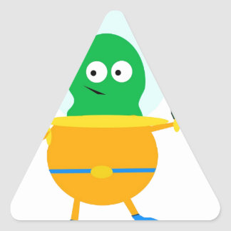 Alien fun triangle sticker