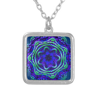 Alien Fungus Blue Green Detailed Decoration Gift Necklaces