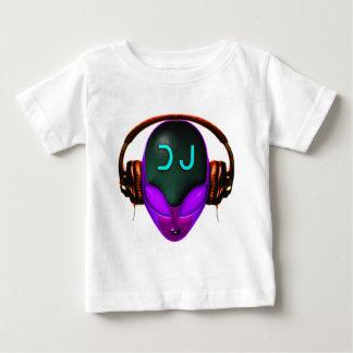 Alien Futuristic DJ with Headphones. Violet eyes Baby T-Shirt