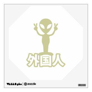 Alien Gaijin Nihongo Japanese Language Wall Graphic