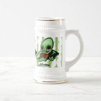 Alien Gambler Beer Stein