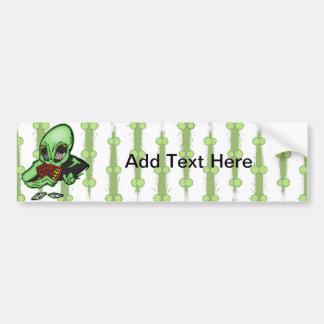 Alien Gambler Bumper Sticker