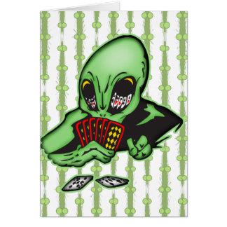 Alien Gambler Card