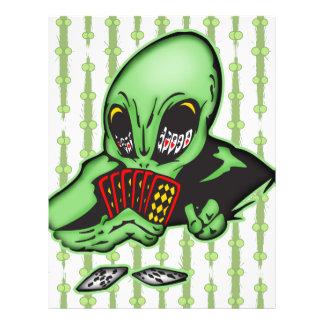 Alien Gambler Personalized Flyer