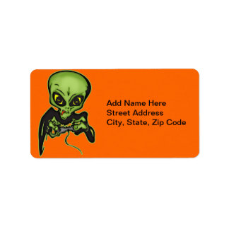 Alien Gamer Label