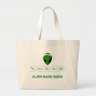 Alien Gang Signs Bags