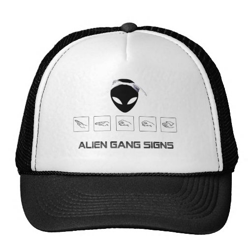 Alien Gang Signs Mesh Hat