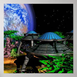 Alien Garden Poster
