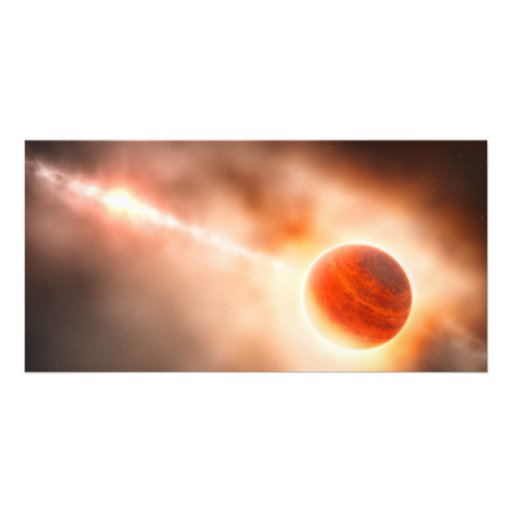 Alien Gas Giant Planet Space Art Customized Photo Card