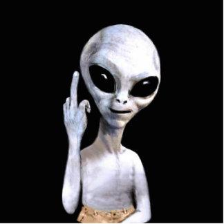 Alien Gesture - Key Chain Cutout