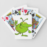 Alien Gesturing A Peace Sign Playing Cards