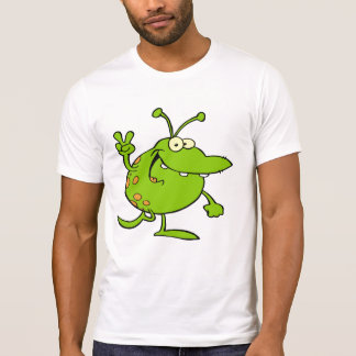Alien Gesturing A Peace Sign T Shirts