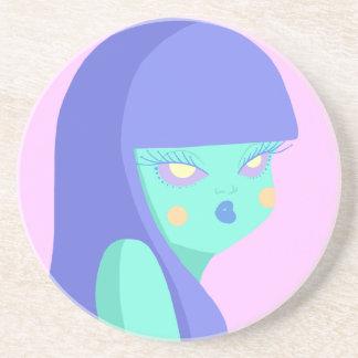 Alien Girl Drink Coaster