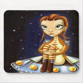 Alien girl mousepad