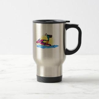Alien Girl on JetSki Coffee Mug