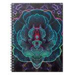 Alien Glowing Rose Notebooks