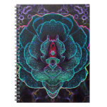 Alien Glowing Rose Spiral Notebooks