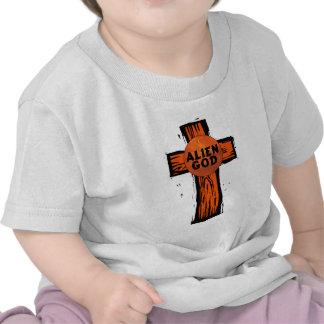 Alien God Cross T Shirts