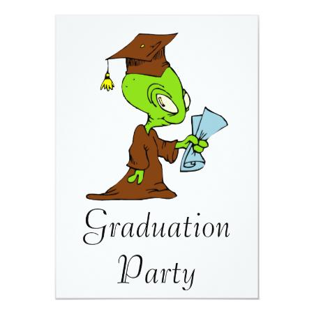 Alien Graduate Invites