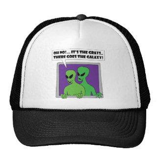 ALIEN grays Trucker Hat