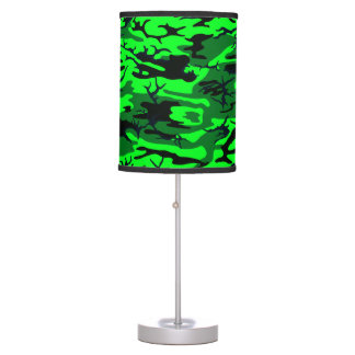 Alien Green Camo Table Lamps