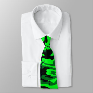 Alien Green Camo Neck Tie