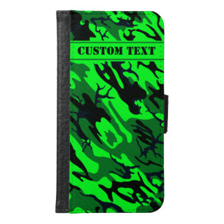 Alien Green Camo Smartphone Wallet w/ Custom Text