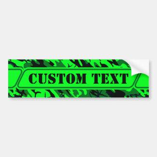 Alien Green Camouflage Bumper Sticker