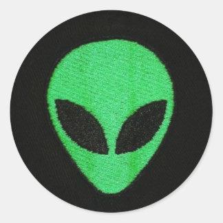 ALIEN-GReeN FacE stickers