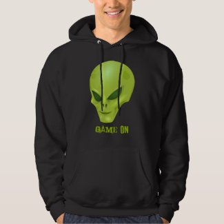 Alien Green Head Gamer Game On Saying Hoodie