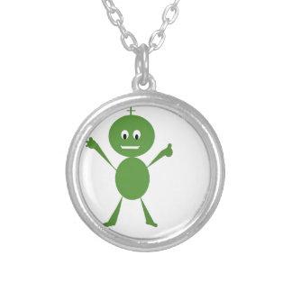Alien Greeting Custom Necklace