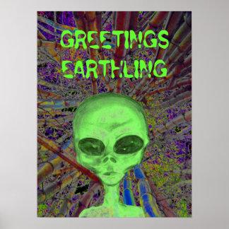 Alien Greeting Posters