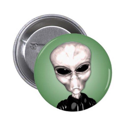 Alien Grey Button