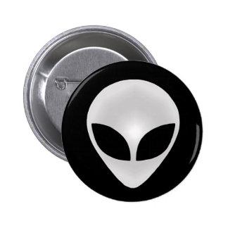 Alien Grey Head 2 Inch Round Button