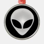 Alien Grey Head Metal Ornament