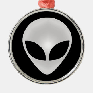 Alien Grey Head Metal Ornament