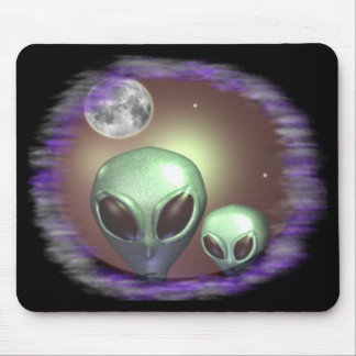 Alien greys mouse pad