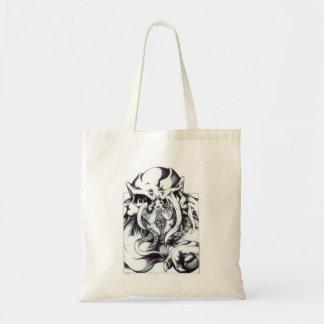Alien Grin Canvas Bags