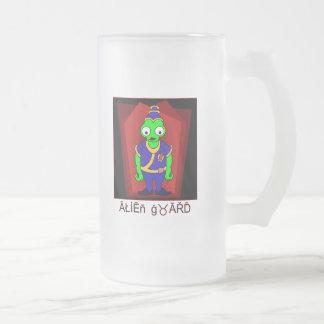 ALIEN Guard Frosted Glass Beer Mug