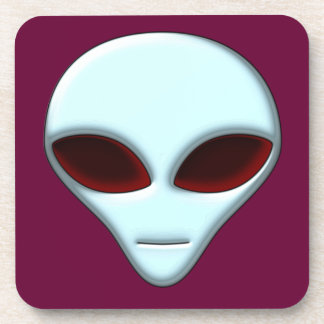 Alien Head 01 Cork Coaster