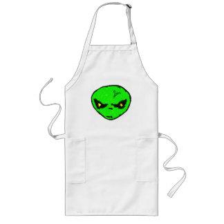Alien Head Long Apron