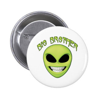 Alien Head Big Brother Button