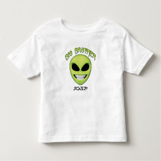 Alien Head Big Brother Personalized Toddler T-shirt