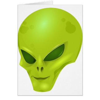 Alien Head Card